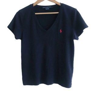Ralph Lauren Tops - Vintage Ralph Lauren Navy Logo Tee